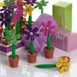 boligrafos maceta flor