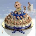 Composicion tarta cajitas bebe perrito