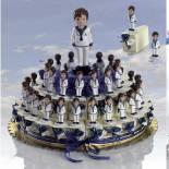 Composicion de marinero comunion azul