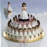 composicion tarta niña comunion con rosario
