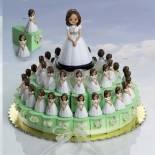 composicion tarta niña comunion verde