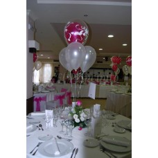 bouquet de mesas con doble globo