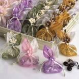 Bolsa de organza con caramelos